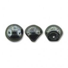 Jet Hematite Mushroom Bead 9x8mm - 30 beads