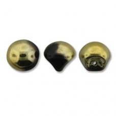 Jet Amber Mushroom Bead 9x8mm - 30 beads