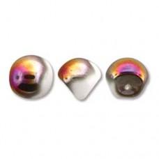 White Sliperit Mushroom Bead 9x8mm - 30 beads