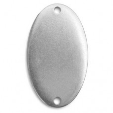"Pewter Oval with Holes, 1 1/2 x 7/8"" Blank"