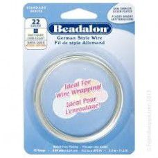 22 Gauge Fancy Square German Wire,  3.5M, Silver Plated
