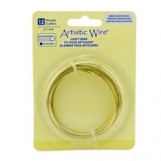 Hexagonal Tarnish Resistant Brass Wire, 12 Gauge (2.1 mm), , 4 ft (1.23 m)