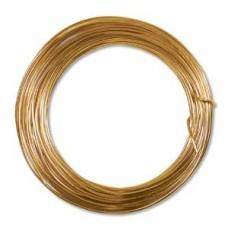 Tangerine colour Aluminium Wire, 12ga (2.1mm) 39 ft (11.88m)