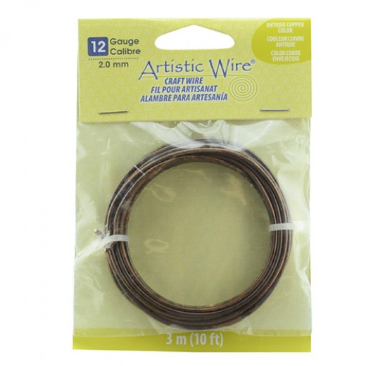 Antique Copper, 10 ft (3.1m) 14 Gauge Copper Wire