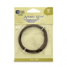 Brown, 10 ft (3.1m) 14ga Copper Wire