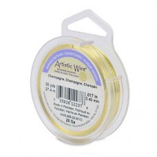 Silver Plated Champagne 26ga Artistic Wire, 30YD (27.4m)