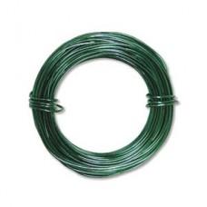 Kelly Green colour Aluminium Wire, 12ga (2.1mm) 39 ft (11.88m)