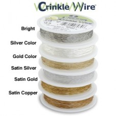 "7 Strand Crinkle Wire, Gold Colour, 0.018"", 15ft Reel, JW03G-15FT-C"