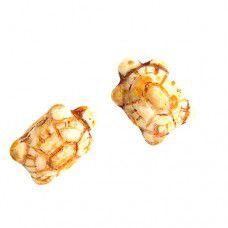 8 x 20mm Turtle Beads, Light Brown Alabaster Travertine