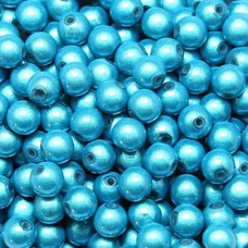 4mm Aqua Miracle Beads, Pack of 20
