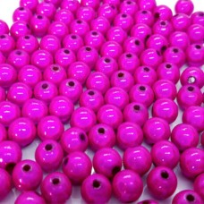 4mm Fuchsia Miracle Beads, Pack of 100