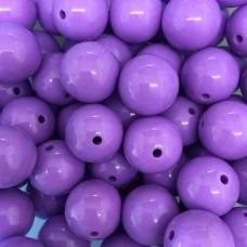 20mm Acrylic Large Hole Beads, Purple, Pack of 10