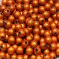 4mm Orange Miracle Beads, Pack of 100