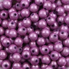 4mm Lilac Miracle Beads, Pack of 20