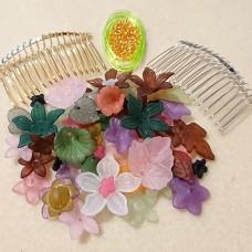Vintage Hawaiian Style Double Hair Comb Kit
