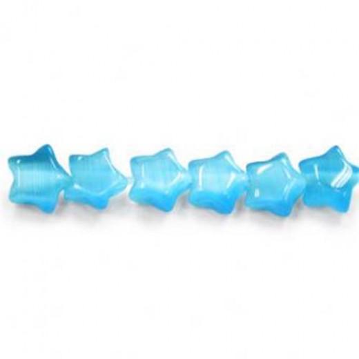 7mm Aqua Star Beads, Pack of 4