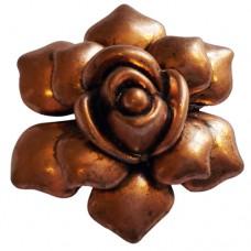Large Rose Pendant  Antique Copper colour