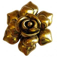 Large Rose Pendant  Antique Gold colour