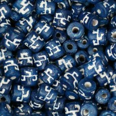 6 x 8mm Small Tube Clay Beads, Dark Blue, Pack of 20