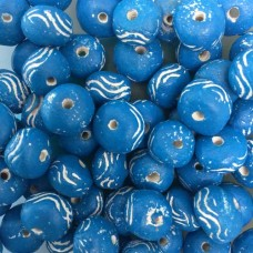 Oval Clay Beads, Aqua, Pack of 10