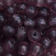 4mm Round Indian Glass Beads, Purple, Pack of 20