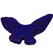50mm Purple Dyed Turquoise Eagle Pendant Bead