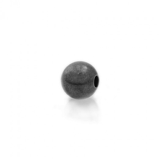 6mm Spacer Beads, Black, Pack of 10