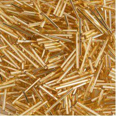 30mm Silver Lined Gold Bugles, 20g approx.