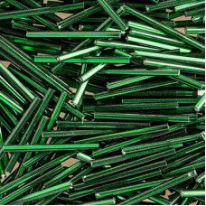 30mm Silver Lined Green Bugles, 20g approx.