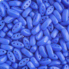 Blue 3-Hole Cali Beads, 50pcs