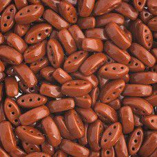 Brown 3-Hole Cali Beads, 50pcs