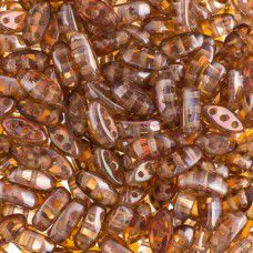 Crystal/Venus  3-Hole Cali Beads, 50pcs