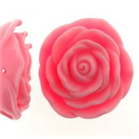 Light Pink Acrylic Flat Back Rose, 45mm