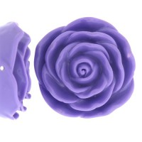 Light Purple Acrylic Flat Back Rose, 45mm