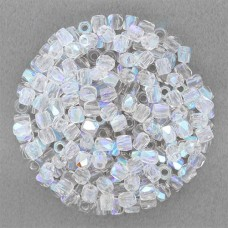 Crystal AB 4mm Firepolished beads, pack of approx. 120 beads