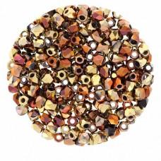 Jet California Gold Rush 2mm Firepolished Beads 150pcs
