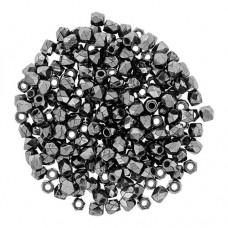 Jet Hematite 4mm Firepolished Beads, Wholesale pack of 1200pcs