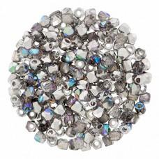 Crystal Silver Rainbow 2mm Firepolished Beads 150pcs