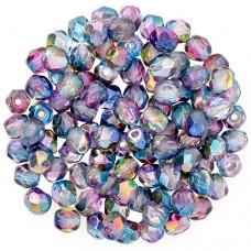Crystal Magic Blue Fire polished 3 mm, 120pcs