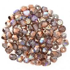 Crystal Magic Copper Fire polished 3 mm , 120pcs
