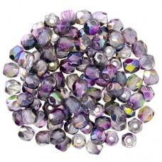 Crystal Magic Purple Fire polished 3 mm , 120pcs