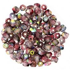 Crystal Magic Wine 3 mm Fire Polished Beads, 120pcs