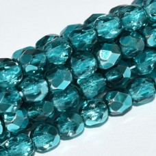 Marine Metallic Ice 4mm Firepolished bead, 120pcs approx.
