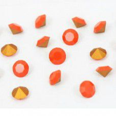 3.1mm Swarovski Chatons PP14 - Gold Foiled Coral x 144 pcs