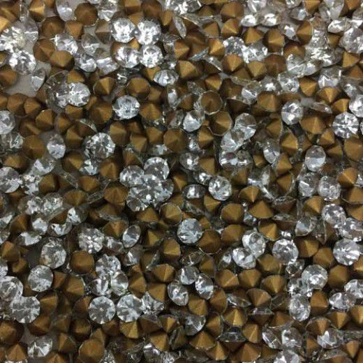 Wholesale Pack Crystal Chatons, 3.8mm Crystal, Approx 1000 Pieces