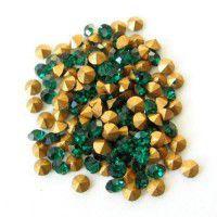 2.7mm Swarovski Chatons PP21 - Emerald x 72 pcs