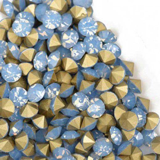 2.0mm Swarovski Chatons PP15 - Blue Opal x 100