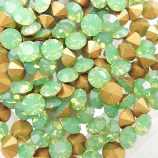 2mm Swarovski Chatons PP15 - Green Opal x 144 pcs