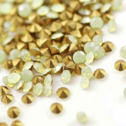 1.8mm Swarovski Chaton - Yellow Opal x 100 pcs