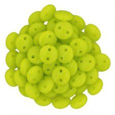Chartreuse 2-Hole 6mm Lentil Beads - Strand of 50 Beads